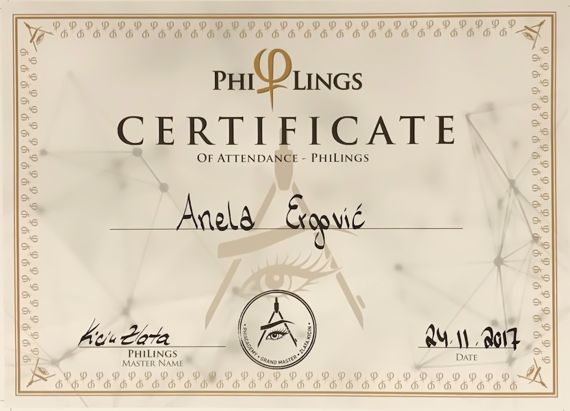 Zlata Philings Atend Cert